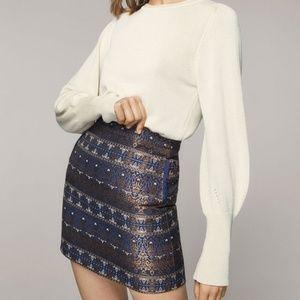 Jacquard Mini Skirt (NWT)